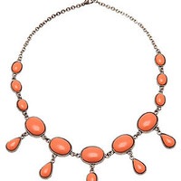 MKL Accessories Necklace Summer Time Stone in Peach