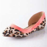 Study in Contrasts Open Side Pointed Flats - Leopard from Casual & Day at Lucky 21 Lucky 21