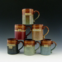 HoneyBrown Liner Mug ONE Personalized 16 by TwistedRiverClay