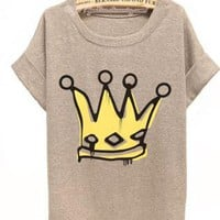 CROWN ME PRINCESS OVERSIZE TEE