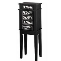 Essential Home  Jewelry Armoire Zebra Print