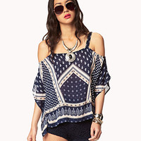 Off-The-Shoulder Scarf Print Top | FOREVER 21 - 2051645293