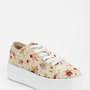 Y.R.U. Floral Low-Top Flatform-Sneaker