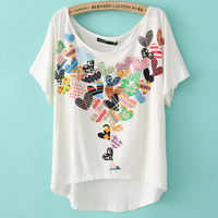 Loose Peach Hearts T-shirt