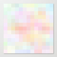 Re-Created Colored Squares No. 48 Stretched Canvas by Robert Lee