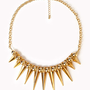Spiked Fringe Rolo Chain Necklace | FOREVER 21 - 1060996492