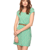 Ditsy Geo Dress w/ Belt | FOREVER21 - 2011407988