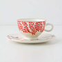 Anthropologie - Evenings In Quito Cup &amp; Saucer