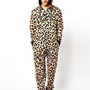 Sinstar Onesuit Leopard Print Exclusive To ASOS at asos.com
