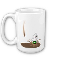 Drip Guy Splashing in Coffee Puddle Mug from Zazzle.com