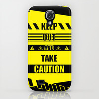 Keep out and take Caution Quotes iPhone &amp; iPod Case by 1986