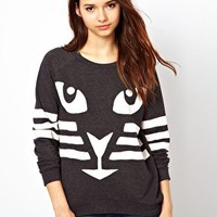 River Island Cat Sweatshirt at asos.com