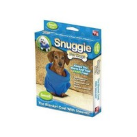 Snuggie for Dogs Blue Colored Fleece Blanket Coat with Sleeves - Small:Amazon:Pet Supplies