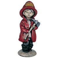 Little Firefighter Yard Decor Garden Sculpture - #27330 | LampsPlus.com