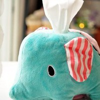 Cute San-x Sentimental Circus Elephant Tissue Box