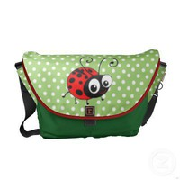 Cute ladybug polka dot bug courier bags from Zazzle.com