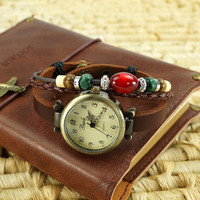 Handmade Ethnic Beaded Bracelet Watch