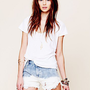 Free People Eyelet Pocket Cutoffs