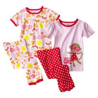 Just One You by Carter&#x27;s Infant Toddler Girls&#x27; Tight Fit 4-Piece Pajama Set