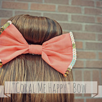 Coral me Happy Hair Bow