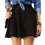 Black Basic Skater Skirt