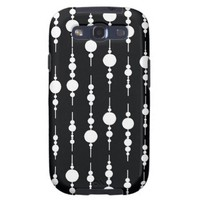 Tuxedo Black and White Circle Print Pt 62A Galaxy S3 Covers from Zazzle.com