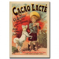 "Trademark Global Cacao Lacte by Lucien Lefevre, Traditional Canvas Art - 32"" x 24"" - V8040-C2432GG - All Wall Art - Wall Art & Coverings - Decor"