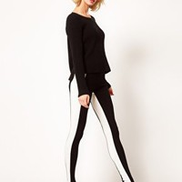 ASOS Leggings with Monochrome Panels at asos.com