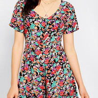 Urban Renewal Short-Sleeve Floral Romper