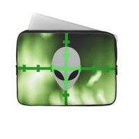Alien Hunter Laptop Sleeves from Zazzle.com