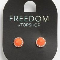 Topshop 'Rhinestone Mini Spike' Stud Earrings | Nordstrom