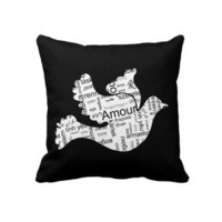 Love Dove Throw Pillow from inspirationzstore