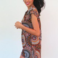 Marie Paisley Print Mini Shift Dress