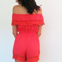 Angel Wings Melon Playsuit Romper