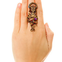 My Enemy by Chrishabana Ring Pharoah Worship Statement in Antique Gold