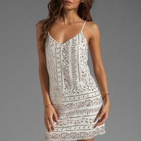 DV by Dolce Vita Tibi Sequins Mini Dress in White/Copper from REVOLVEclothing.com