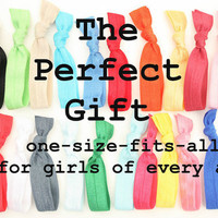 15 Knotted Hair Ties Grab Bag - No Dent Hair Ties - Women's Hair Accessories - Emi Jay Like Fabric Hair Bands - Soft Stretchy Ponytail