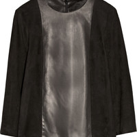 The Row | Manford leather and suede top | NET-A-PORTER.COM