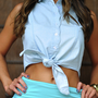 Cute And Country Crop Top: Denim | Hope's