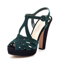 Criss-Cross Peep-Toe Sandal by Prada at Gilt