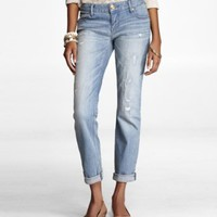 CROPPED ROLLED RIP AND REPAIR SKINNY JEAN