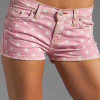 M2F Mini Short in Flamingo Pink Star Print from REVOLVEclothing.com