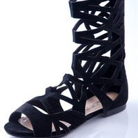 Triumphant in Battle Tall Gladiator Sandals - Black from Casual & Day at Lucky 21 Lucky 21