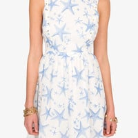 Studded Starfish Print Dress