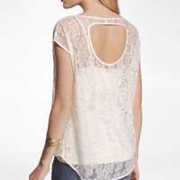 LACE CUT-OUT BACK HI-LO HEM TOP