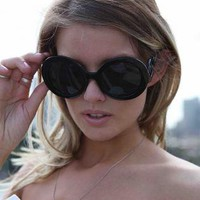 Black Oversized Swirly Sunglasses