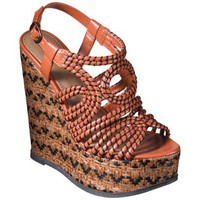 Women's Mossimo® Verlie Tubular Upper Wedge Sandal - Orange