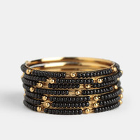 In the Abyss Bangle Set - $12.00 : ThreadSence, Women's Indie & Bohemian Clothing, Dresses, & Accessories