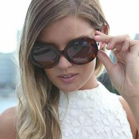 Tortoise Shell Round Swirly Sunglasses