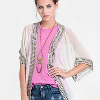 Bronze Age Embellished Cardigan - $70.00 : ThreadSence, Women's Indie & Bohemian Clothing, Dresses, & Accessories